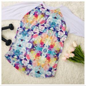 LuLaRoe 3/4 Sleeve Bright Floral Top